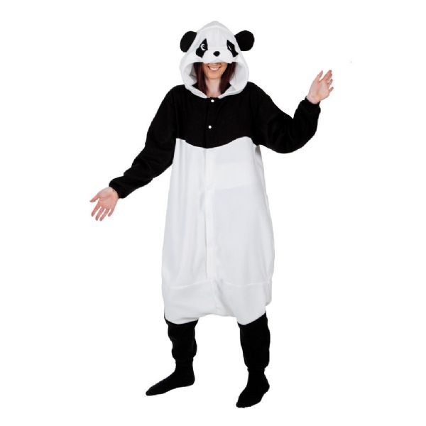 Adult Unisex Giant Panda Fleecy All in 1 Costume Outfit for Animals Fancy Dress Giant Panda